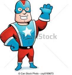 Cartoon Superhero Clip Art