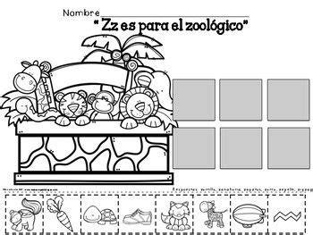 letras para ni241os palabras e im225genes con za ze zi zo zu para ni241os