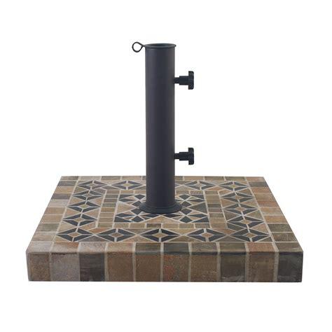 outdoor interiors concrete square umbrella base reviews