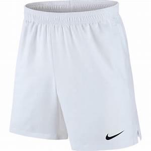 Nike Mens Dry 7 Inch Tennis Shorts White Tennisnuts Com