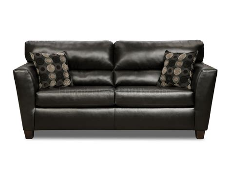 black faux leather modern casual sofa loveseat set w options