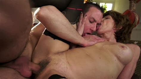 Kinky Sex Scene With A Horny Brunette Granny And A Young