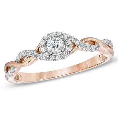ct tw diamond entwined promise ring   rose