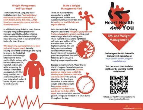 heart health brochure bmi  weight management