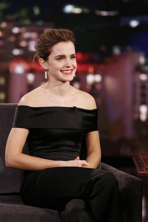 Emma Watson Appeared Jimmy Kimmel Live