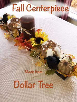 fall centerpiece   dollar tree items