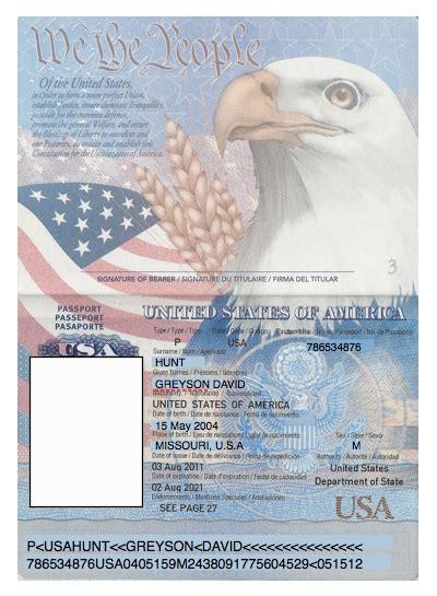 editable passport template us passport template the letter sle