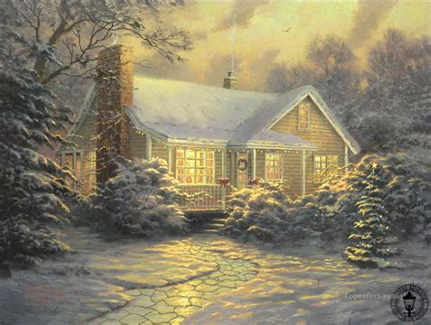 Cottage Paintings By Kinkade by Cottage Kinkade Painting In For Sale