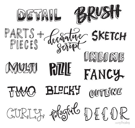 different letter styles freebie lettering style inspiration guide every 54400