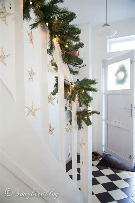 christmas staircase decor ideas    love