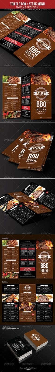 bbq  grill menu templates images food menu
