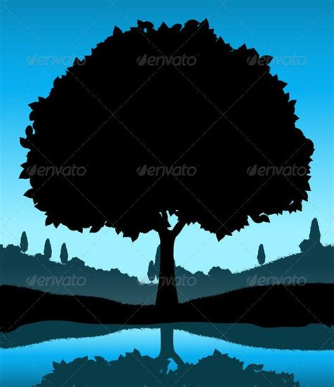 tree silhouettes  psd vector ai eps format