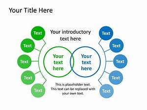 Powerpoint Slide - Diagram Venn - Green - 2 Sections