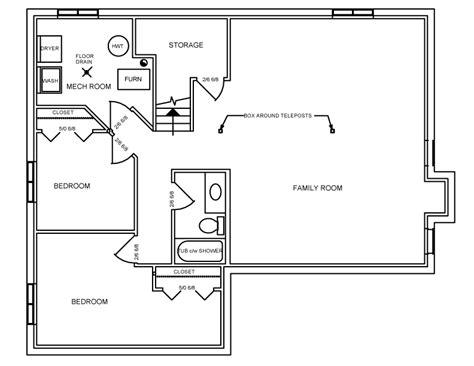 sq ft basement plans  square feet  bedrooms