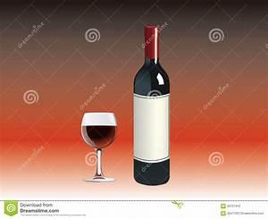 Customiser Une Bouteille De Vin : une bouteille de vin rouge une tasse illustration de ~ Zukunftsfamilie.com Idées de Décoration
