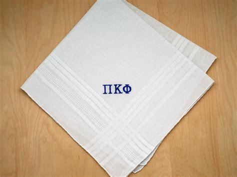 image gallery monogrammed handkerchiefs fraternity greek personalized mens handkerchief