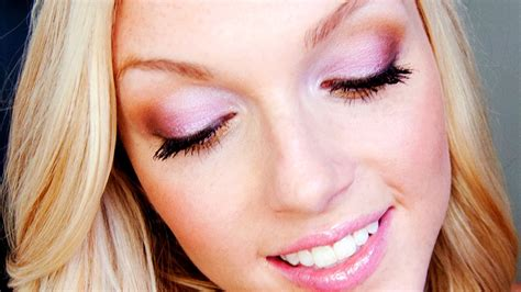 pink gold summer makeup tutorial youtube