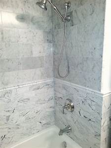 CLASSIC WHITE MARBLE TILE - Traditional - Bathroom - dc