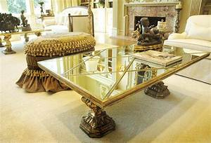 Antique mirror coffee table antique coffee table ideas for Mirrored coffee table and end tables