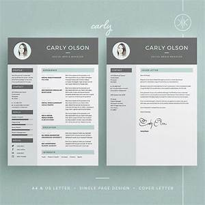 carly resume cv template word photoshop indesign With cv template photoshop