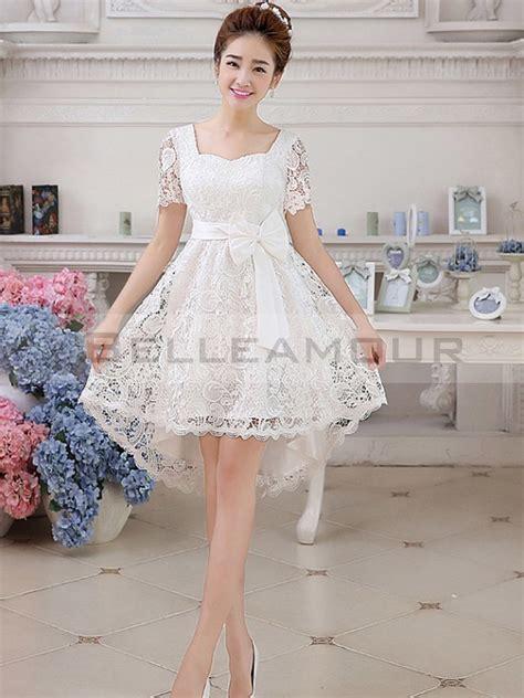 robe de mariée et blanche dentelle robe blanche dentelle mariage courte la mode des robes