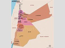 Jordan Political Map Political Map of Jordan Political