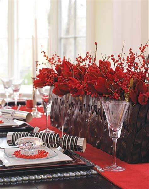 xmas table centerpieces ideas 45 amazing christmas table decorations digsdigs