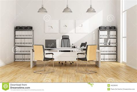bureau contemporain bureau contemporain illustration stock image 46228640