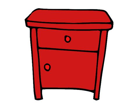 chaise de bureau à roulettes dessin de table de chevet colorie par membre non inscrit