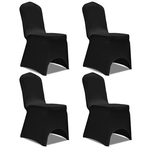 housse de chaise noir acheter vidaxl housse de chaise extensible 4 pcs noir pas