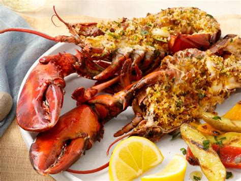 deviled portuguese grilled lobsters recipe food network