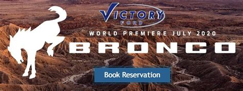 ford bronco book  reservation victory ford