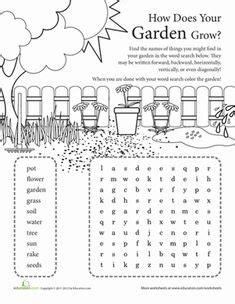 garden worksheets images worksheets plants