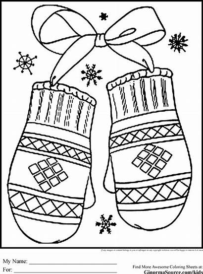 Coloring Winter Pages Preschool Colouring Printable Sheets