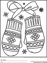 Coloring Preschool Winter Pages Colouring Printable Sheets Sheet Mittens Christmas Adults Miracle Timeless Snow Adult Holiday Happy Cut Season Theme sketch template