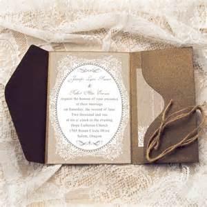burlap wedding favors affordable rustic burlap pocket wedding invitations with