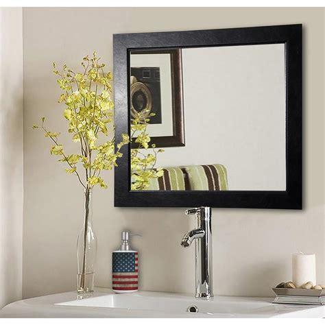 39 s farmhouse superior 39 in x 39 in black superior square vanity wall mirror
