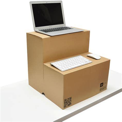 cardboard stand up desk pop up standing desk converter laptop montior stand aibox