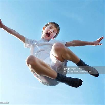 Boy Jumping Young Shorts Boys Looking Portrait