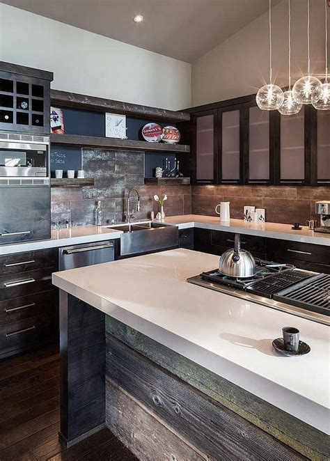 cuisine de r e cuisine bois de récupération en 20 idées d 39 aménagement