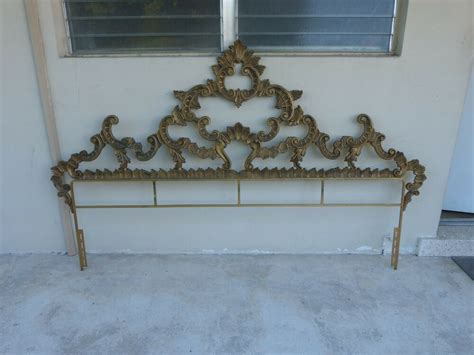 imposing mid century polychromed rococo metal king size