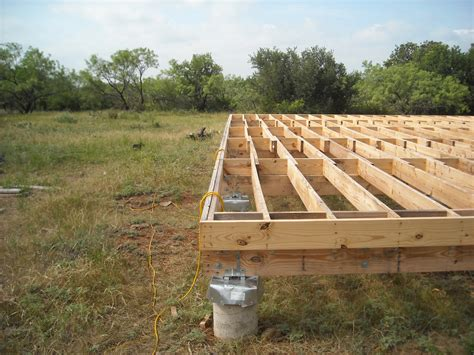 flooring joists joists after getting the joists in place i added the header boards cabin building tips and