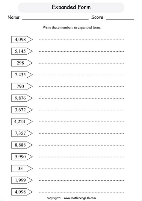 write these 4 digit number sin expanded form and standard