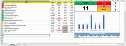 To Do Template Excel Excel To Do List For Project Managers