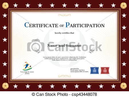 certificate  participation template  sport theme