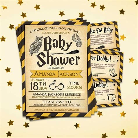 Harry Potter Baby Shower Invitations - hufflepuff hogwarts harry potter baby shower invitation