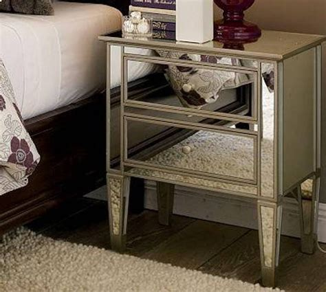 mirrored nightstand overstock loccie  homes