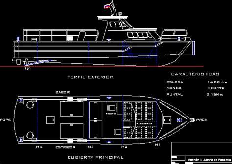 passenger boat in autocad cad free 142 85 kb bibliocad
