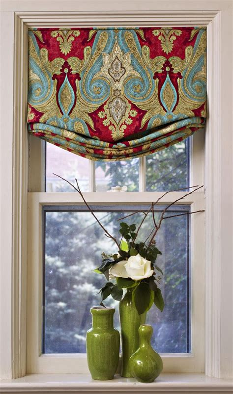 Fabric Window Shades by Pop Of Kitchen Window Treatments In Windows