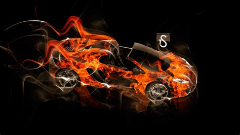 mclaren mp  spyder fire smoke car  el tony